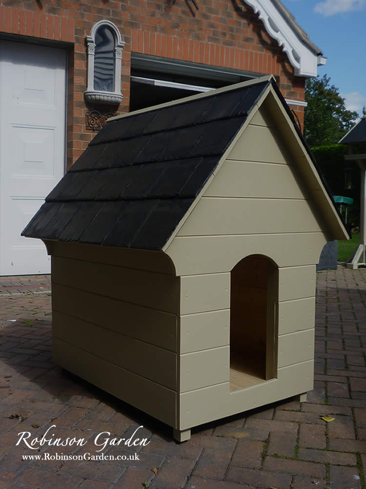 Edwardian Bespoke Wooden Handcrafted Dog Kennel Dog House