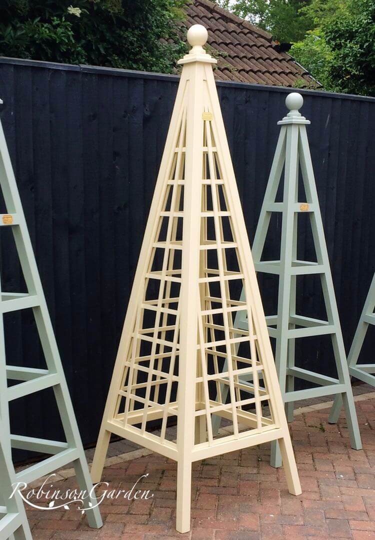 Buckingham Bespoke Wooden Obelisk - Farrows Cream