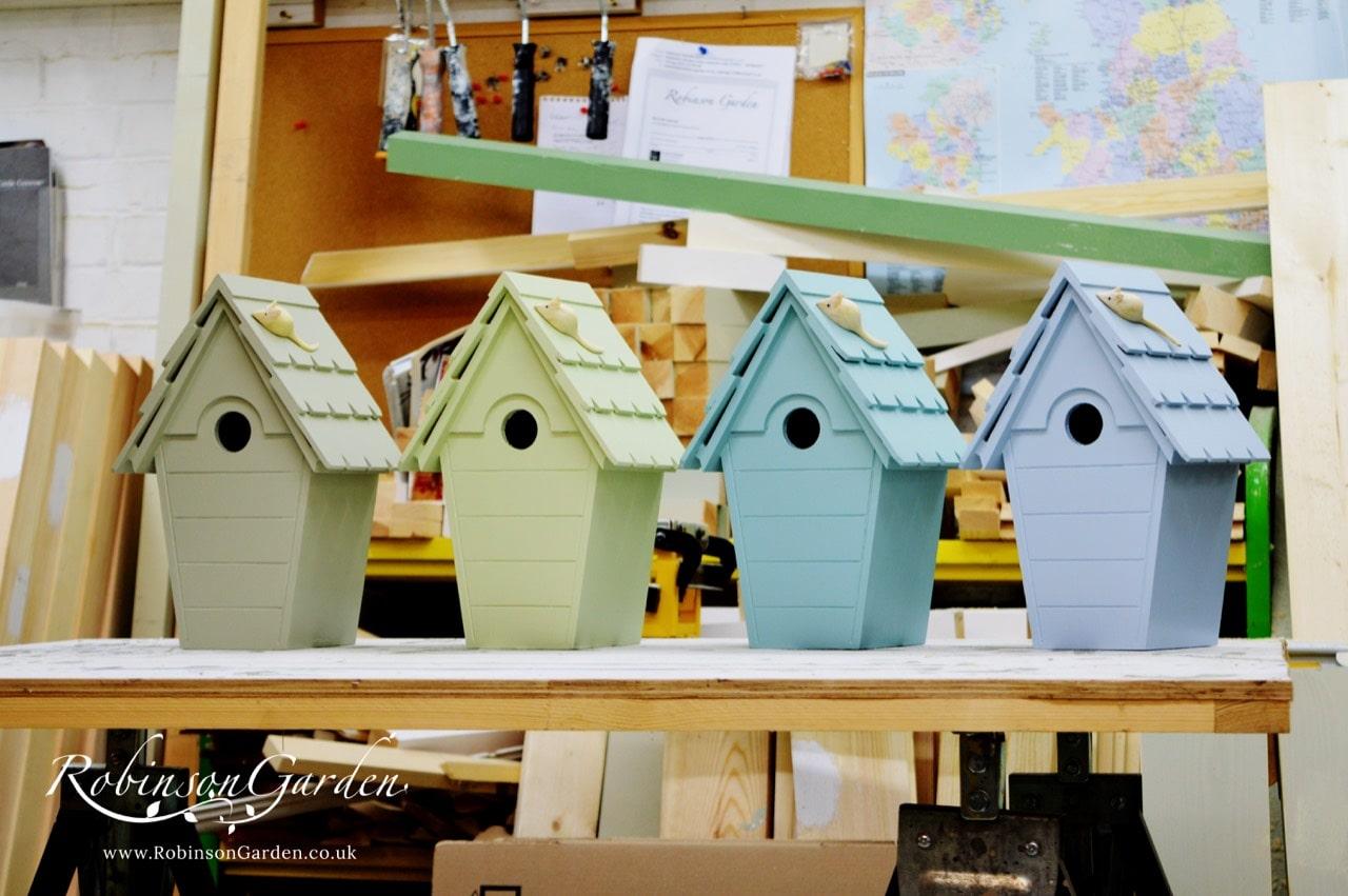 Lyndhurst Bespoke Bird box Farrow and Ball - Cooking Apple Green
