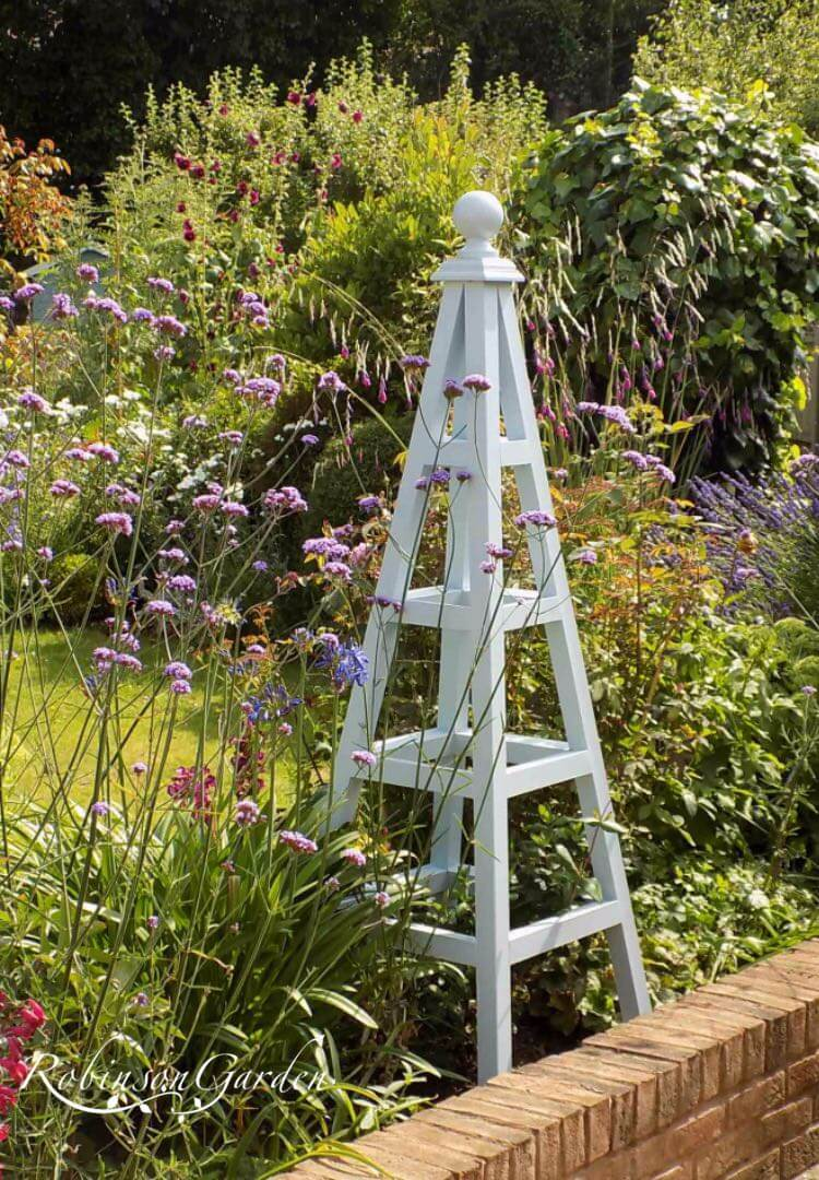 Windsor Bespoke Wooden Obelisk - Pale Powder