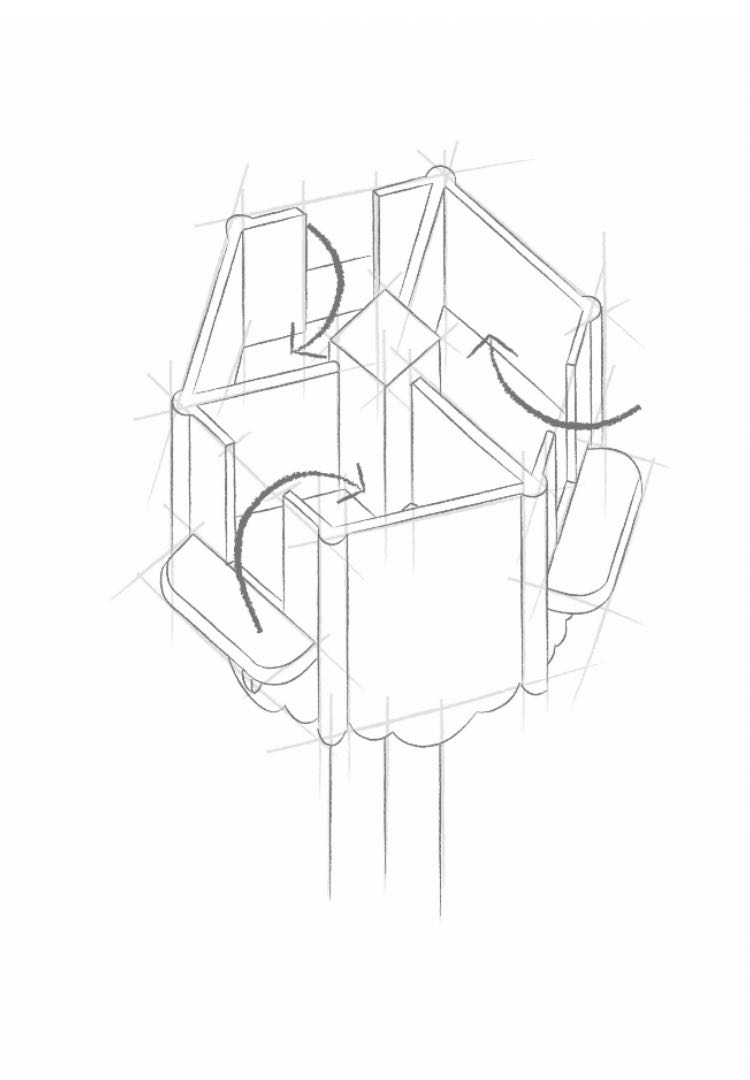 Dovecote - Homing boxes sketch